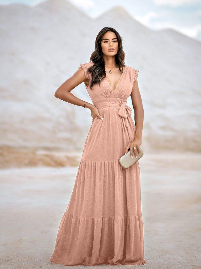 vestido saia plissada