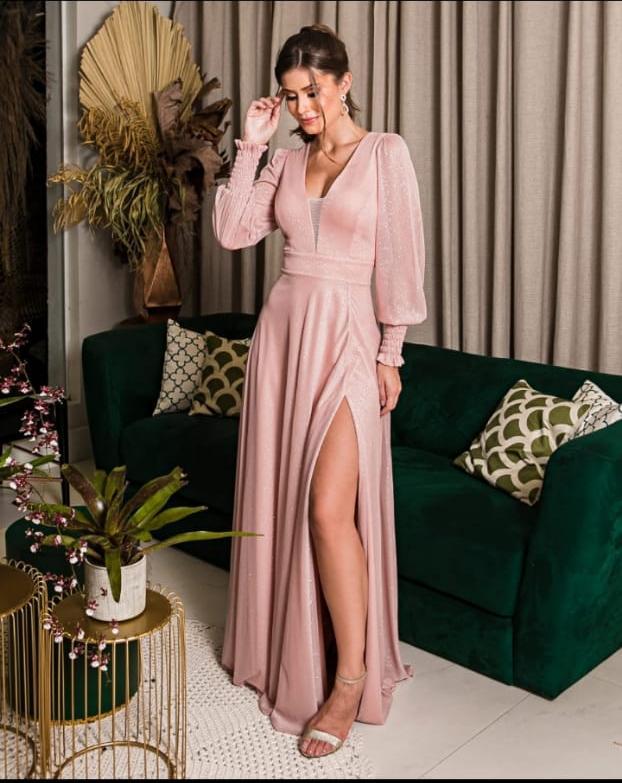 vestido madrinha rose